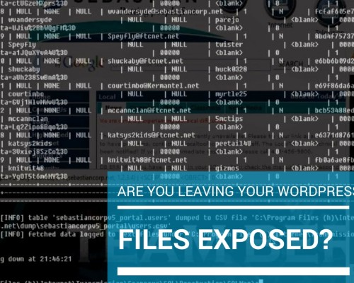 Are you Leaving your WordPress Files Exposed?