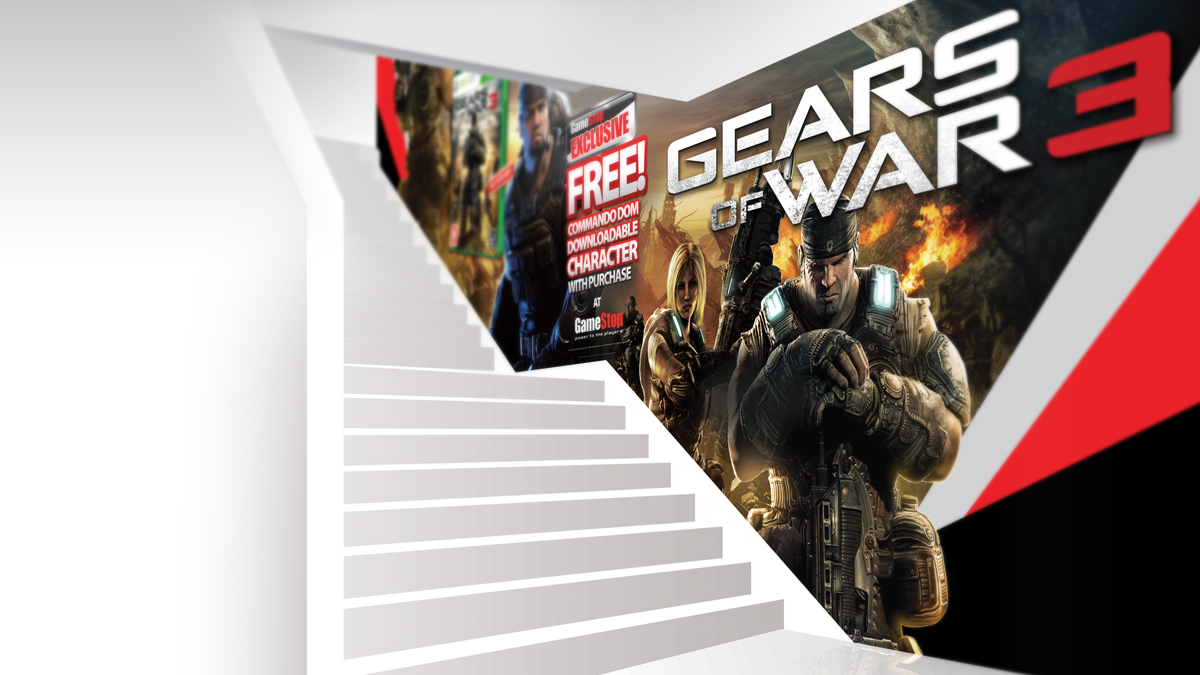 Gamestop Staircase ads