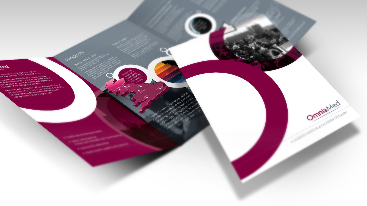 Omnia-Med Corporate A4 6 page Brochure