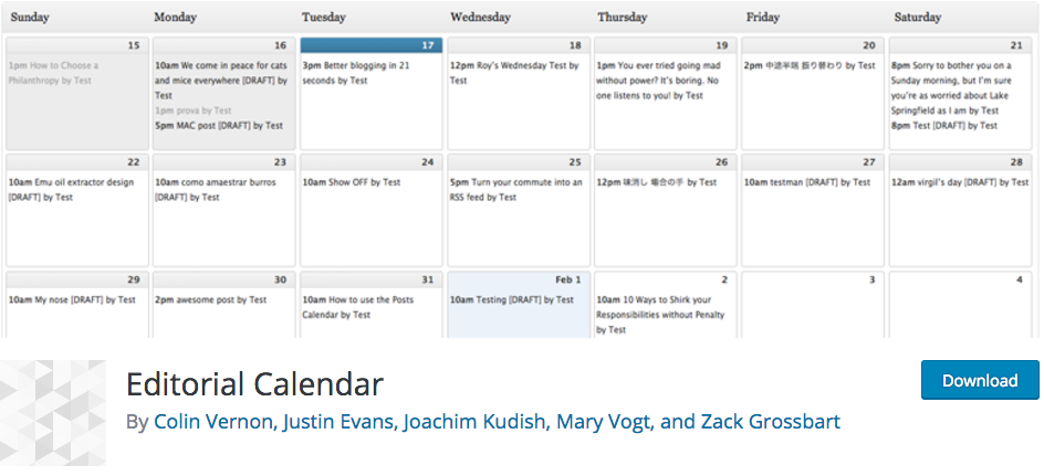 wordpress editorial-calendar