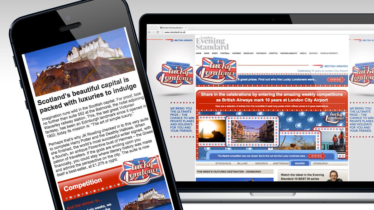 London Evening Standard Website BA