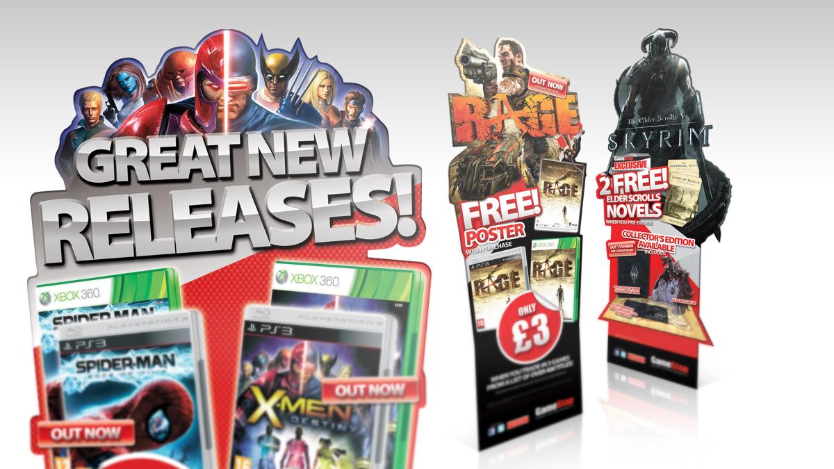 GameStop Free standing units