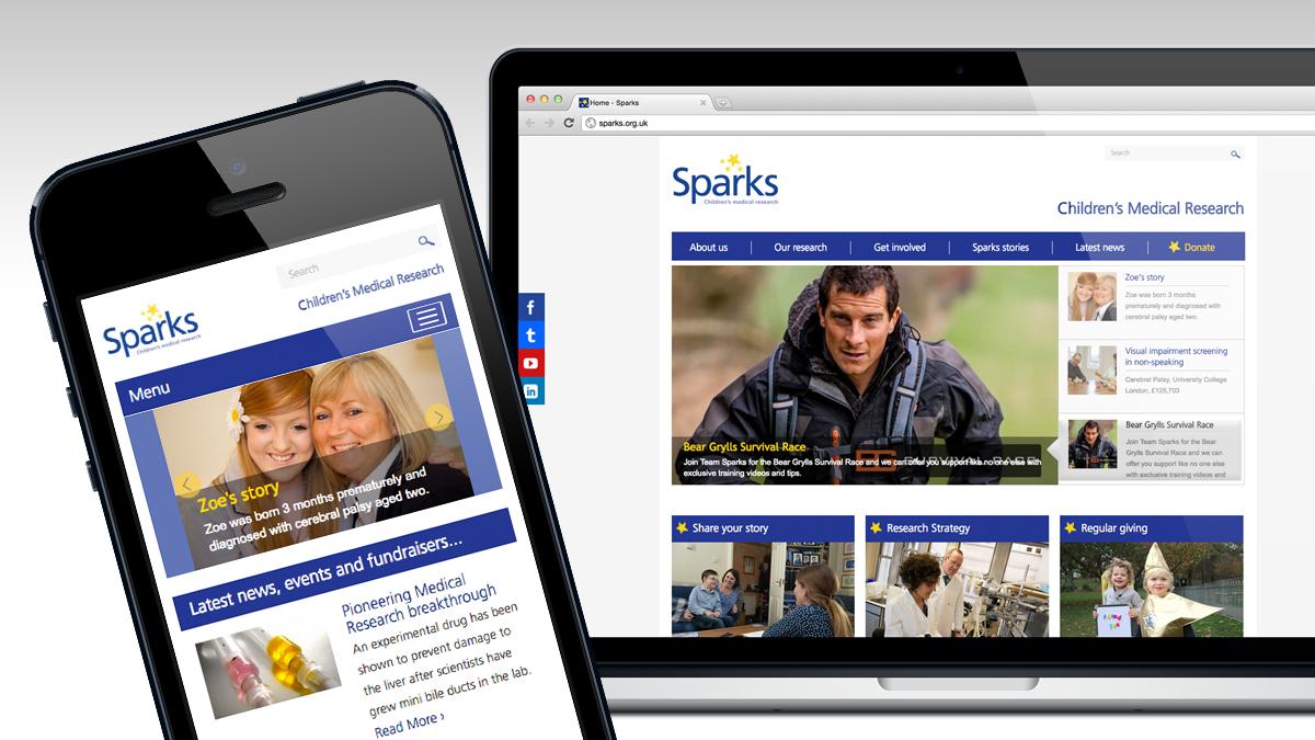 Sparks full website and responsive design